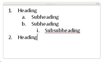essay headings and subheadings