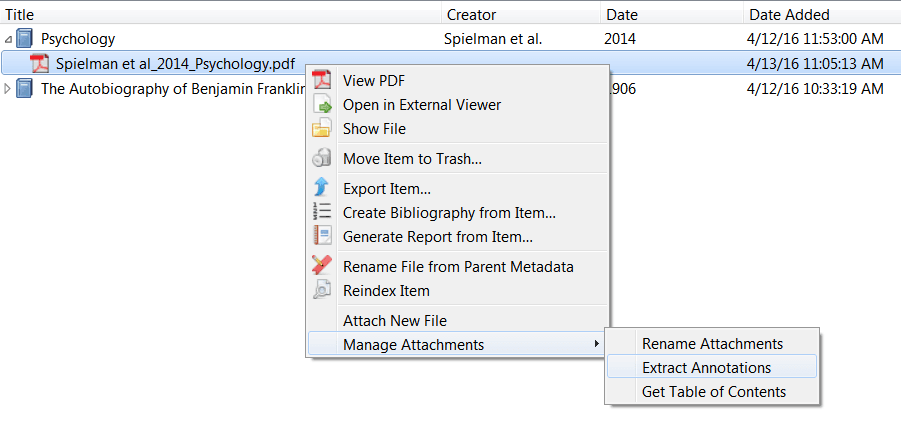 Zotero-Zotfile-PDF-extract-annotations