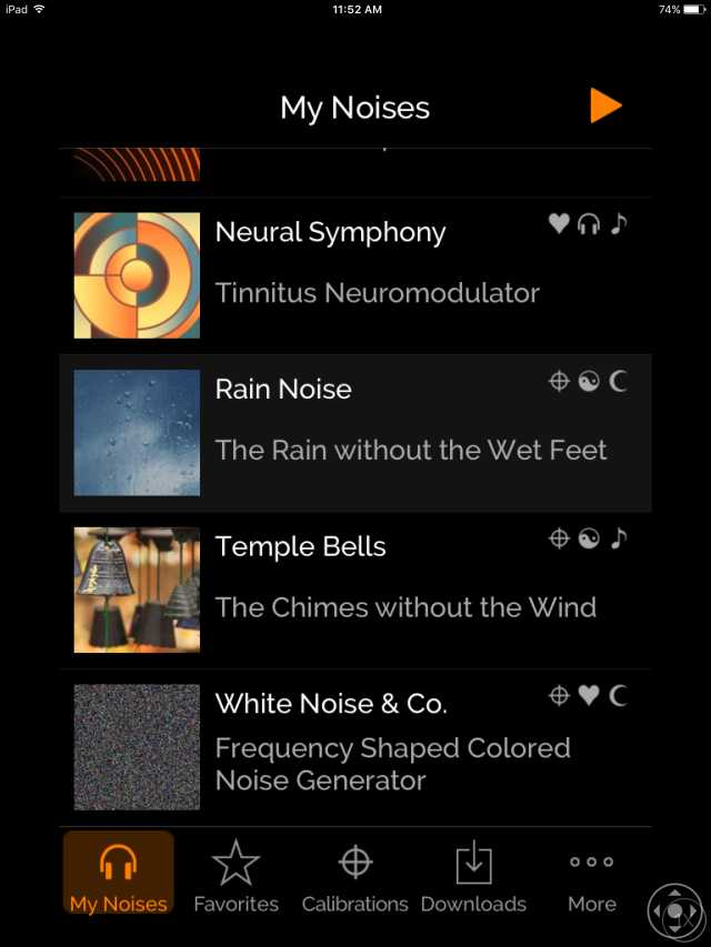myNoise White Noise App