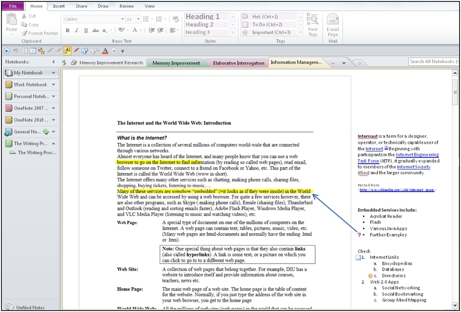 Effective note taking and outlining with onenote for Escort directory template
