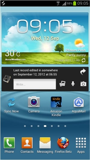 Homescreen-SyncNow-Dropsync-RememberEverythingOrg