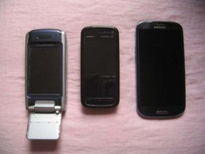 P900-Nokia5800-Samsung GalaxySIII-RememberEverythingOrg
