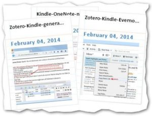 Zotero-Kindle-highlights-Evernote-OneNote