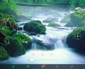 White noise app water flowing