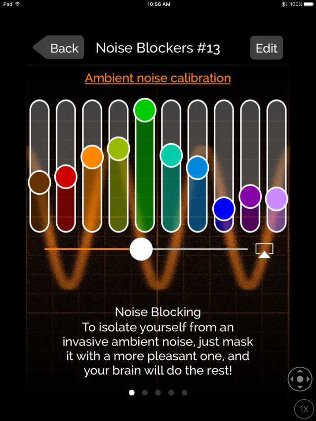 myNoise creates masking sound curve