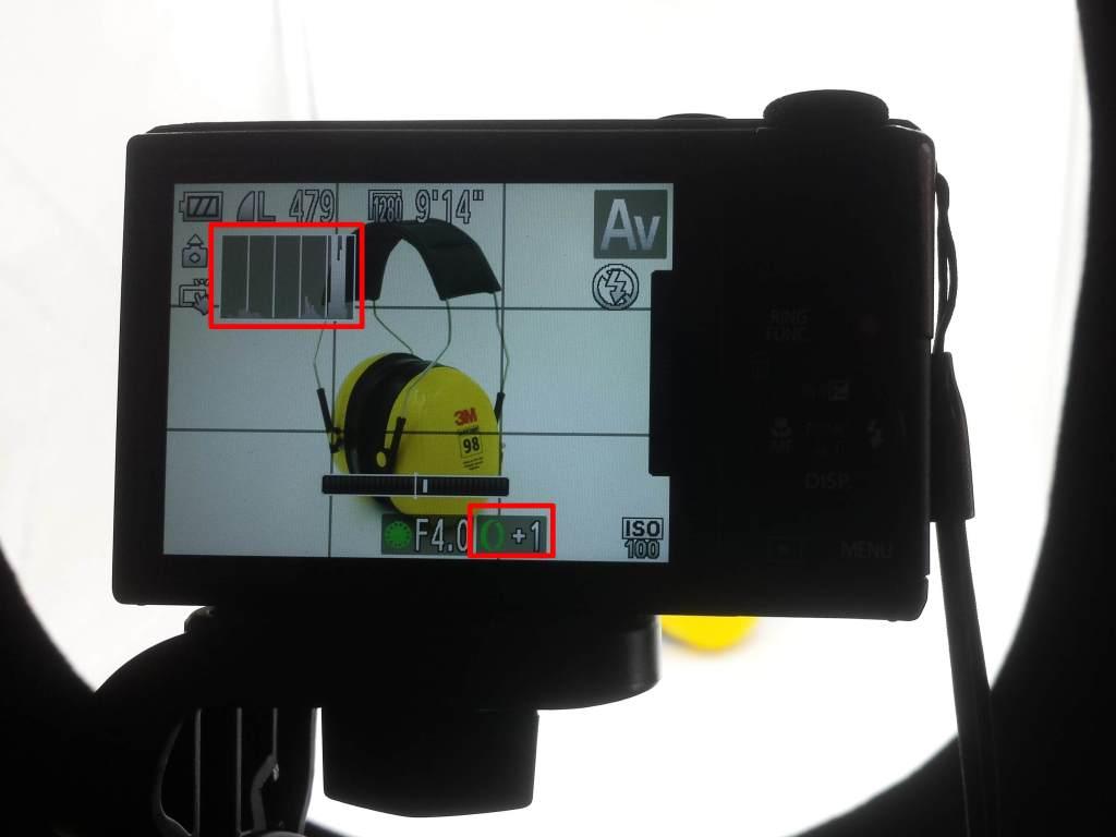 camera exposure compensation +1