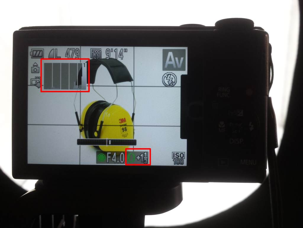 camera exposure compensation +1 1/3